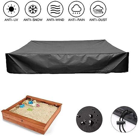 MILECN Cubiertas para Cajas de Arena con cordón, Cubierta Impermeable para Piscina de Arena, 95% de protección UV a Prueba de Polvo, evite la contaminación de Arena y Juguetes: Amazon.es: Deportes y