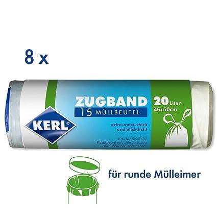 Kerl 4003450023427 - Bolsas de basura (20 L, 8 rollos de 15 ...