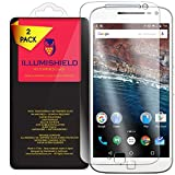 Moto G4 Plus Screen Protector [2-Pack], iLLumiShield HD Clear Tempered Ballistic Glass Screen Protector for Moto G4 Plus 9H Hardness Anti-Bubble Shield - Lifetime Warranty