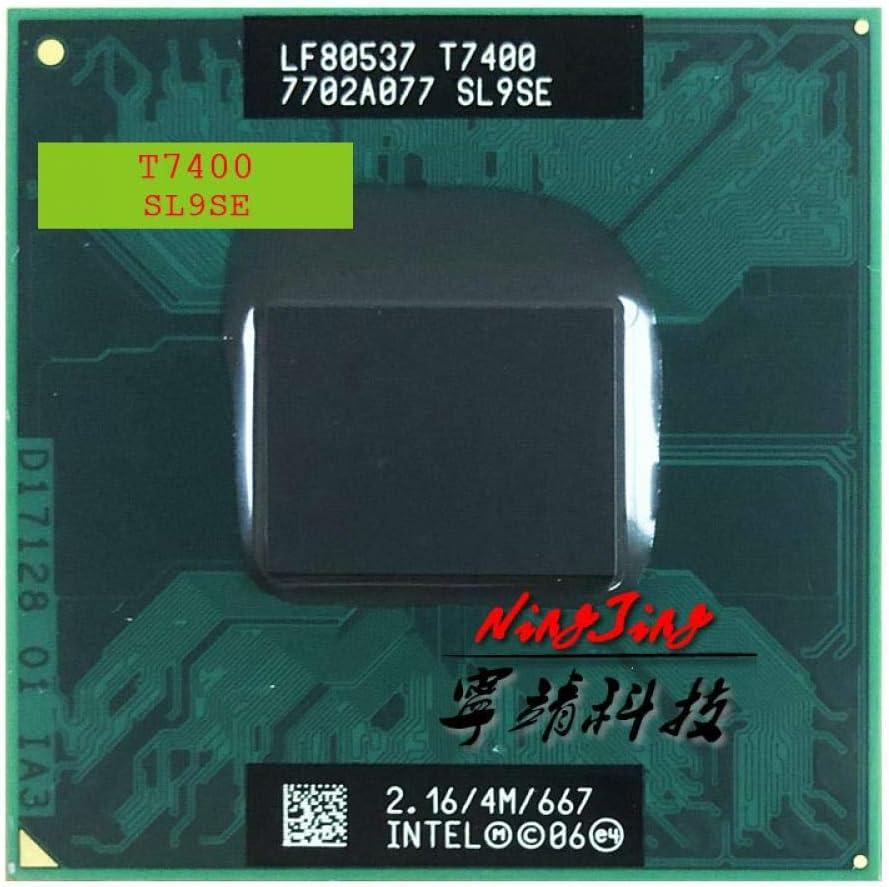 MPGA478MT Intel Core 2 Duo T7400 SL9SE 2.1 GHz Dual-Core Dual-Thread CPU Processor 4M 34W Socket M