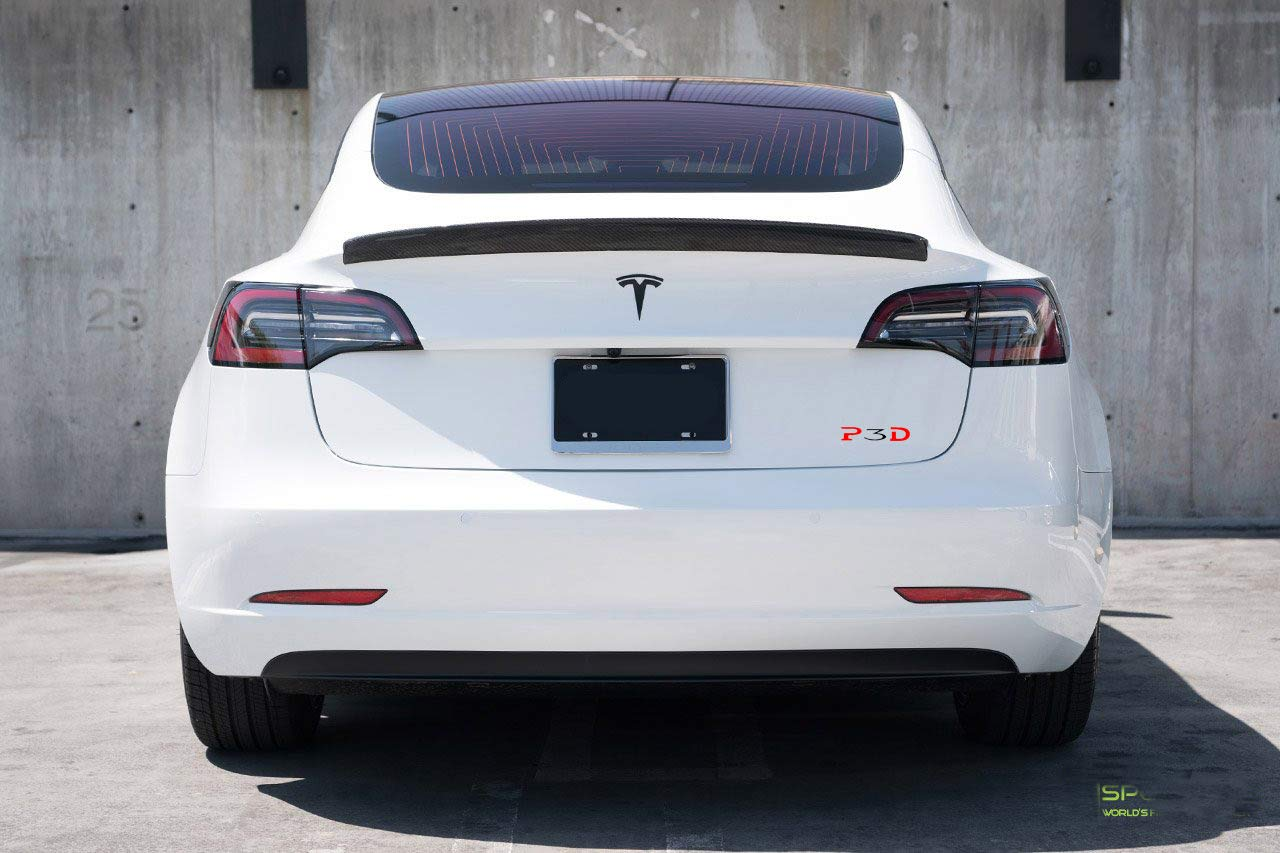 P3D decal sticker for Tesla Model 3 Performance car trunk bumper exterior accessory