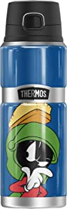 Looney Tunes Marvin The Martian, THERMOS STAINLESS KING Stainless Steel Drink Bottle, Vacuum insulated & Double Wall, 24oz