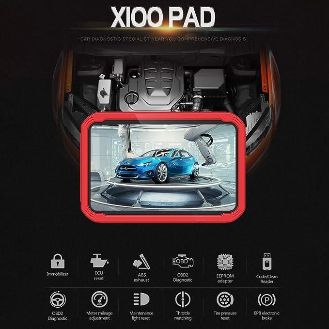 XTOOL X100 PAD Programador automático de llaves con herramienta de reseteo de aceite y de ajuste del odómetro: Amazon.es: Coche y moto