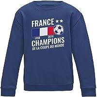 Green Turtle T-Shirts France Vainqueur Coupe du Monde de Football 2018 Sweatshirt Enfant