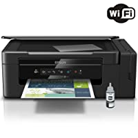 Kit Impressora Multifuncional Epson Ecotank L395 Jato de Tinta Color e Refil de Tinta Preto T664120