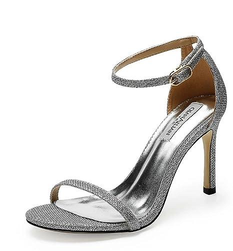 f3a1cbc9b04e LBY Sandali tacco alto delle donne Peep toe scarpe da donna con cinturino  alla caviglia con