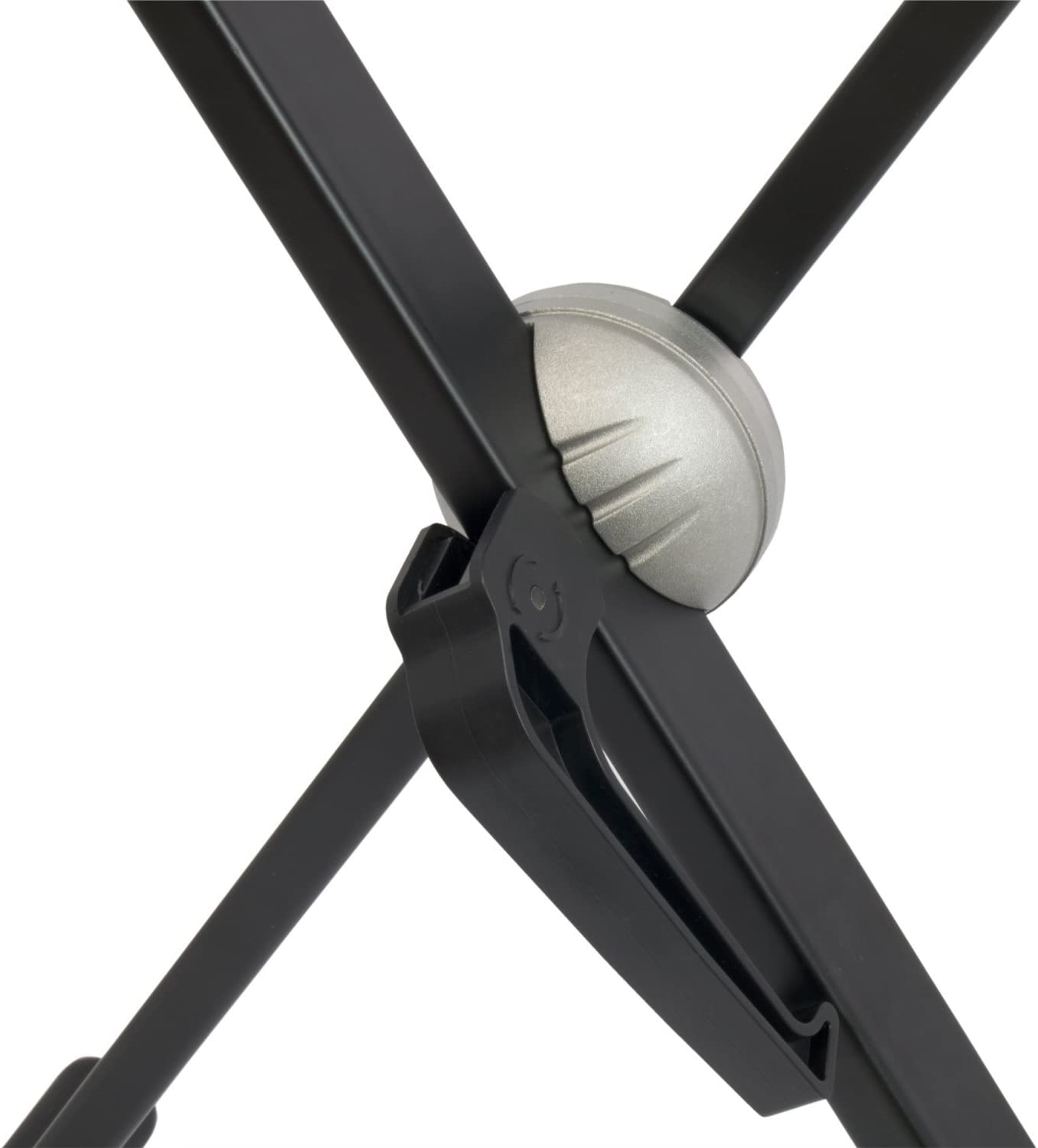 Single Braced X Frame Keyboard Stand for 61 to 88 Key Keyboards and Digital Pianos Black Tiger Keyboard Stand with Securing Straps
