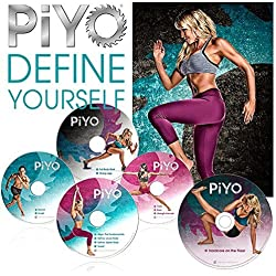 ZOMLAN PiYo Workout/Pilates/Yoga Workout 5 DVD with Fitness Guide & Nutrition Plan