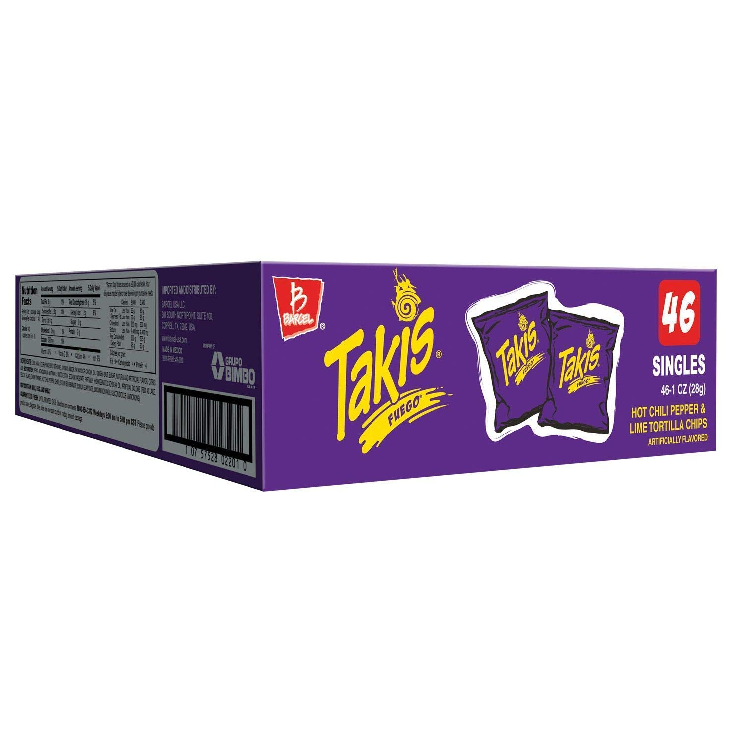 Takis Fuego (1 oz., 46 ct.) A1 (pack of 2)