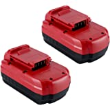 Lasica PC18B NiCad Battery 18-Volt 3.0Ah Replacement for Porter Cable 18-Volt NiCad Drill Driver Kit PC180DK-2 PCMVC (3.0Ah 2 Pack)