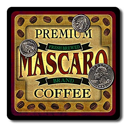 Mascaro Coffee Neoprene Rubber Drink Coasters - 4 Pack