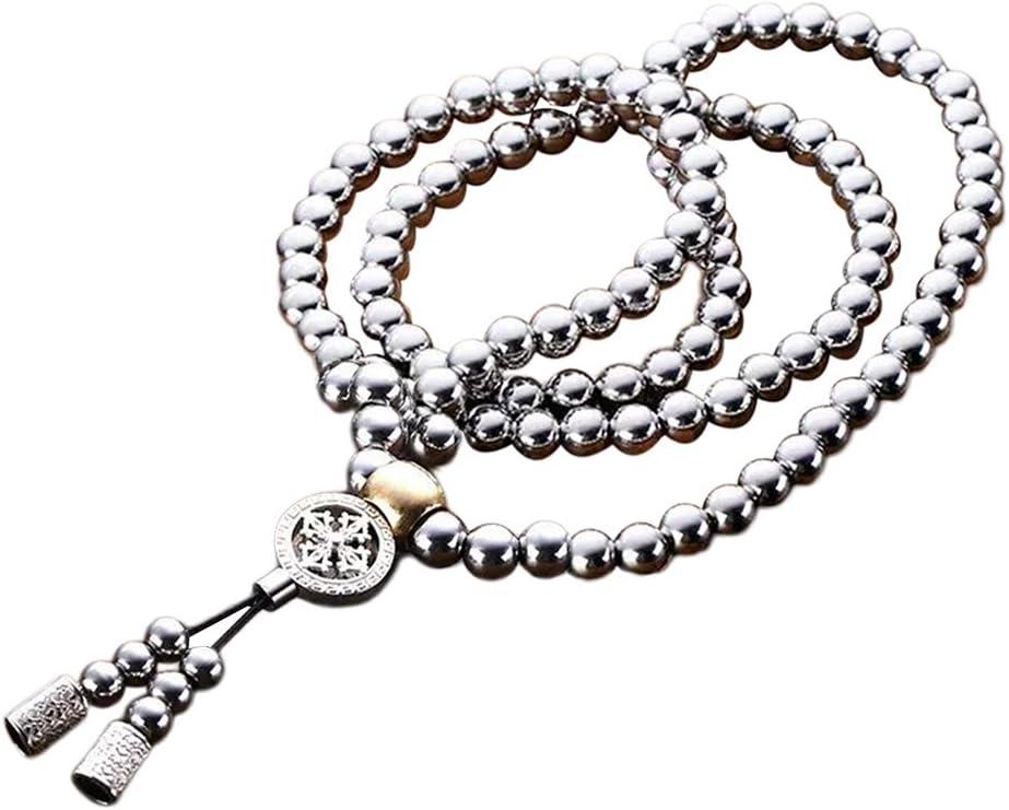 Steel self Defense catena 108 Buddha perline collana Outdoor Equipment multifunzionale braccialetto mano Edc Whip catena della vita