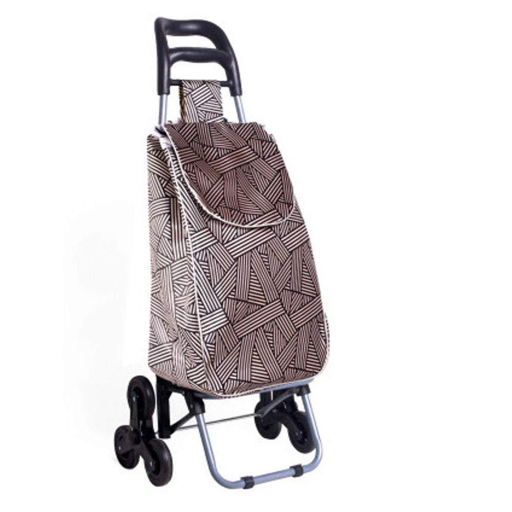 Dixinla Faltbarer Einkaufswagen Treppensteigen Folding älteren tragbaren handlaufkatze Heimat Lebensmittelgeschäft Warenkorb 37 96 cm 28