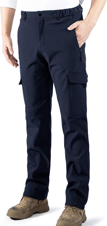 aoli ray Hombre Impermeables Lana Forrado Pantalones Trekking Escalada Senderismo Softshell Pantalones