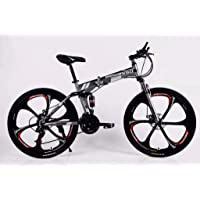 WILD WOLF BICYCLES Model: Folding Bicycle (Grey_26 Inch)