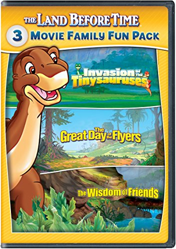 The Land Before Time XI-XIII 3-Movie Family Fun Pack (Invasion of the Tinysauruses / The Great Day of the Flyers / The Wisdom of Friends) (Land Before Time Dvd Set)