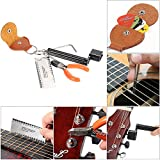 ammoon 5 in 1 Guitar Accessories Kit Setup String Winder Bridge Pin Peg Puller + String Action Gauge Ruler Measuring Luthier + String Plier Nipper Cutter + Pick Case Plectrum Holder + Hexagon Wrench
