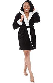 Alexander Del Rossa Womens Fleece Solid Robe 4741c07f4