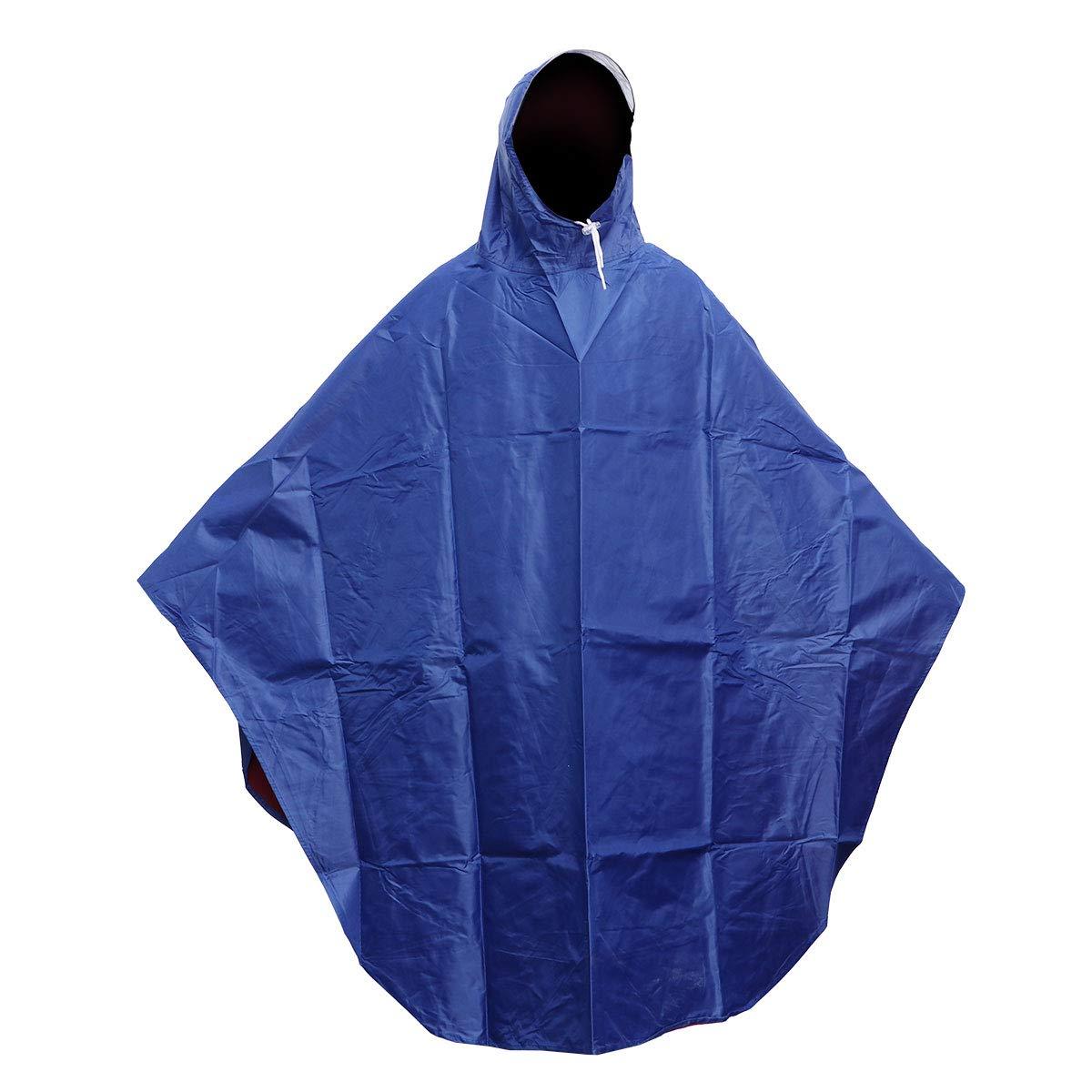 Vosarea Rain Poncho for Adults Men Women Reusable Packable Waterproof Raincoat Rain Cape with Sleeves Hat
