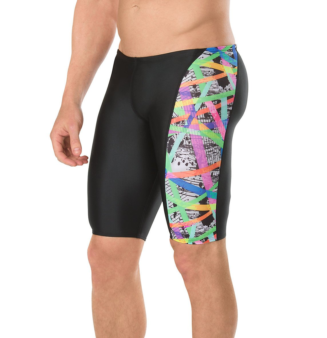 Speedo Men's Flip turns Jammer Pro Lt Swimsuit, 30, Purple/Pink