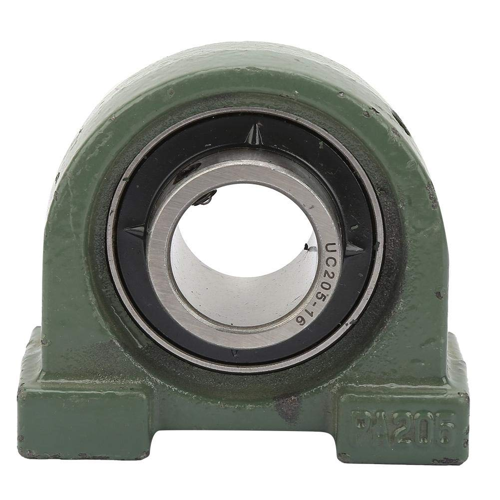 Smooth Edges Tapped Base Bearing for Mechanical Higher Speed Limit Low Friction 1 Pcs UCPA205-16 Tapped Base Bearing