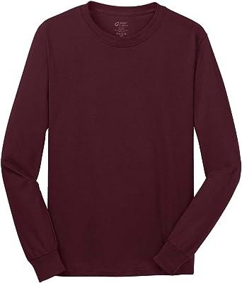 Port /& Company Mens Long Sleeve 5.4-oz 100/% Cotton T-Shirt