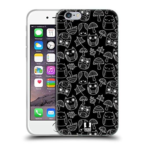 Head Case Designs Funghi E Foglie Autunnali Doodle Gufi Cover Morbida In Gel Per Apple iPhone 6 / 6s