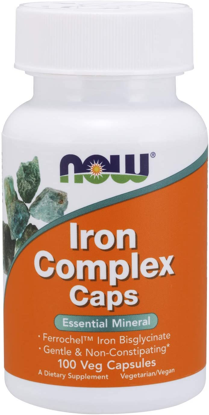 Now Foods Supplements, Iron Complex Caps, Non-Constipating*, Essential Mineral, 100 Veg Capsules