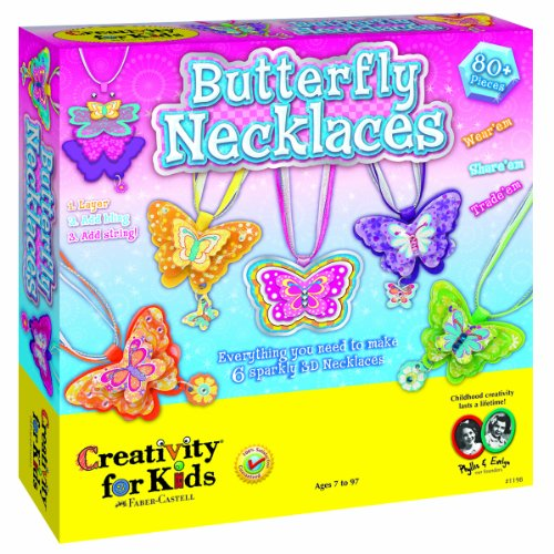 Kids Butterfly Necklaces - Makes 6 Necklaces