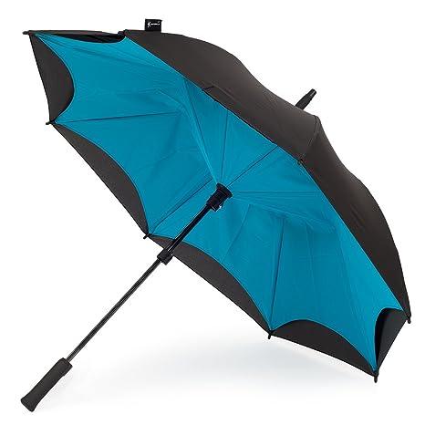 KAZbrella - Clásico Turquesa Negro/Turquesa