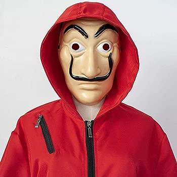 Riou Kit de La Casa De Papel, Disfraz de Ladrón, Salvador Dalí Traje de Cosplay para Carnaval Navidad Halloween Ropa y Máscara para Adultos y Niños,1 ...