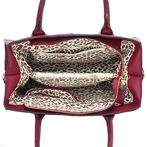 Bags Handbags Design Designer Faux Medium Large Large Ladies Medium Extra 1 Leather Fashion Large Burgundy Womens FAS4Xx