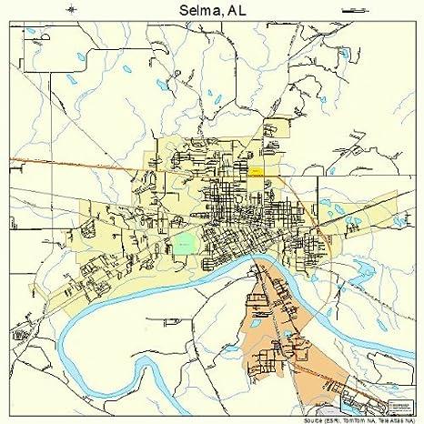 Amazon.com: Large Street & Road Map of Selma, Alabama AL - Printed ...