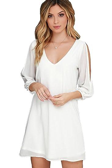 Amazon Com Kingscat Women S Off Shoulder Long Sleeve Swimwear Cover