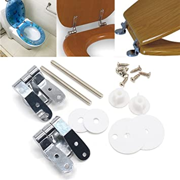 Miraculous Reelva Toilet Seat Hinges Stainless Steel Chrome Finished Alphanode Cool Chair Designs And Ideas Alphanodeonline