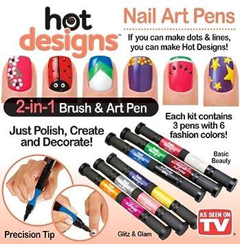 Amazon 6 Color Starter Kit Hot Design Nail Art Basic Kit Red