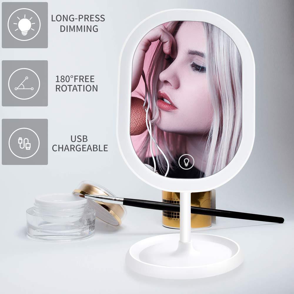 Espejo De Maquillaje Con Luces Ledy Pantalla Tactil, Gytf