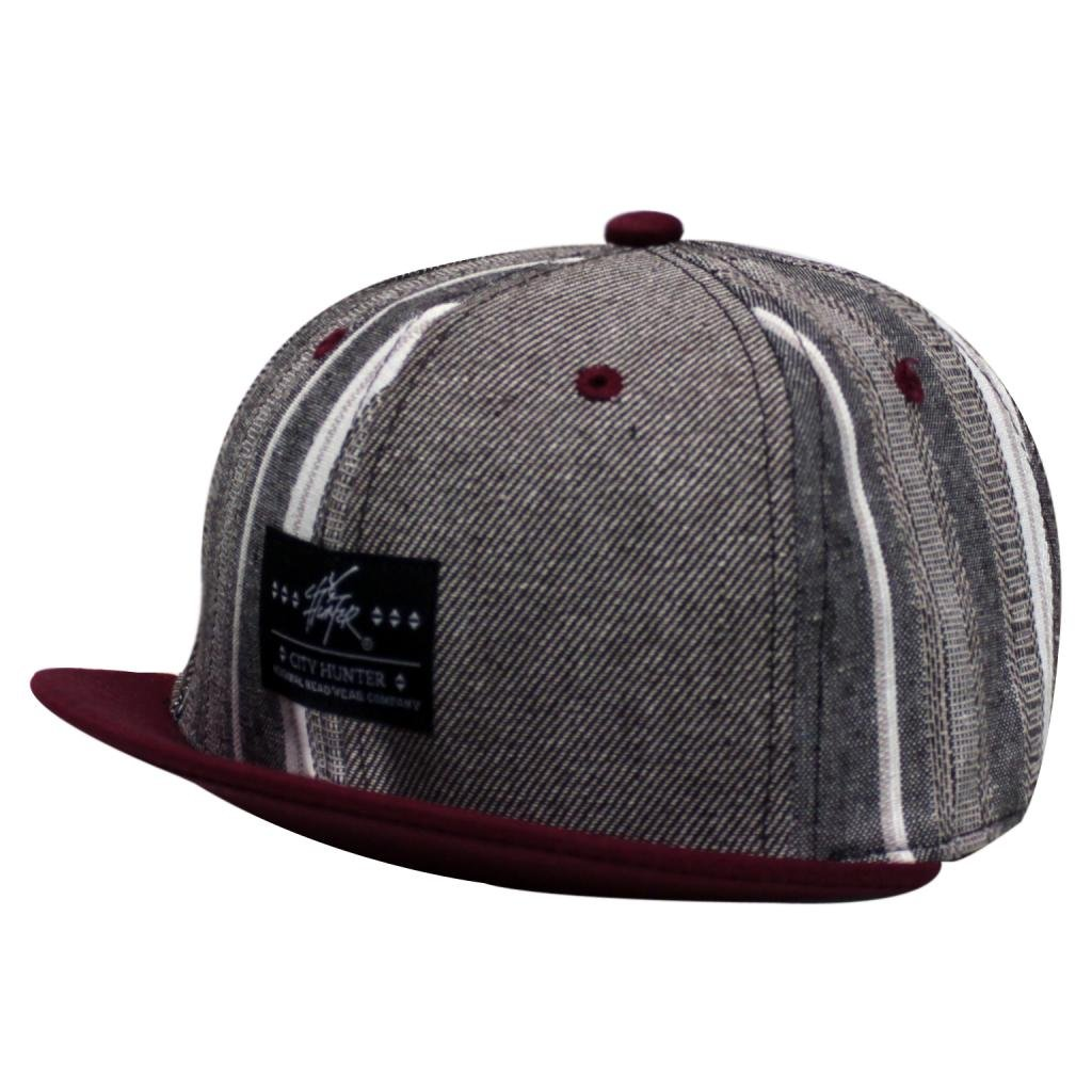 City Hunter Cx130P Herringbone 6 Panel with Short Visor Hat (3 Colors)