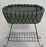 35'' Wrought Iron Deep Basket Plant Stand - Flower Planter Pot Holder
