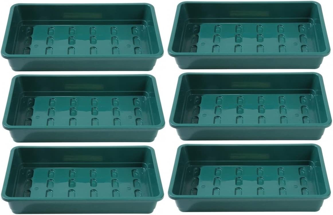 Britten /& James Pack of 6 Professional Seed trays WITHOUT HOLES for pots gravel or cell cavity inserts As used by professional growers.
