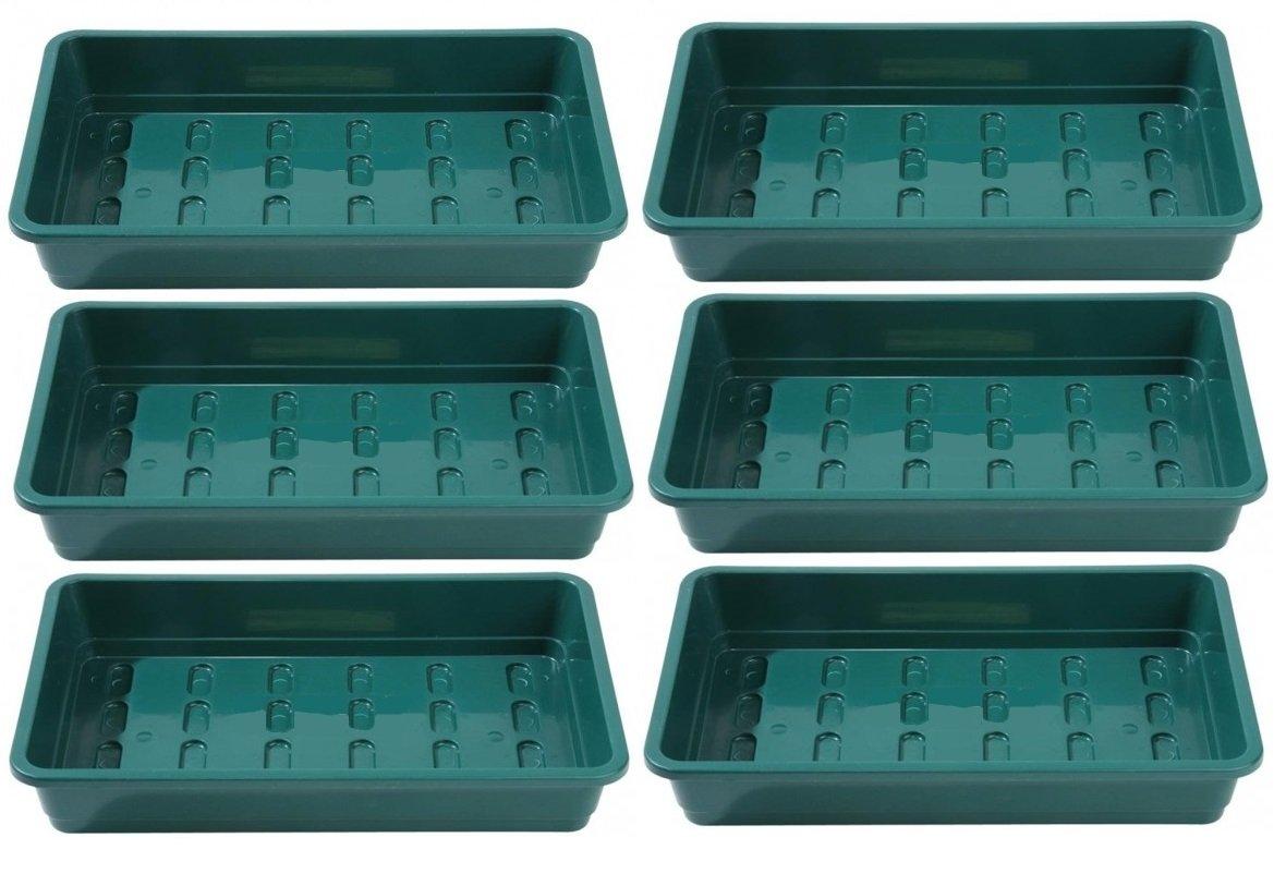 Paquet de 6 plateaux de semences de qualit/é professionnelle SANS TROUS pour pots Plateaux robustes et robustes fabriqu/és en plastique extra-/épais De Britten /& James/® gravier ou inserts de cavit/é cellulaire Comme utilis/&e
