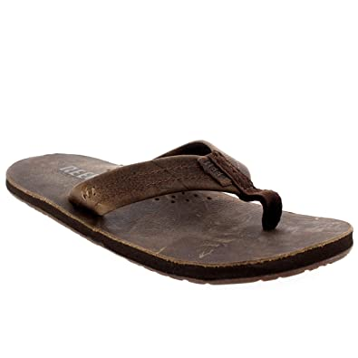 5d5cdfc2347c Reef Mens Draftsmen Surfing Holiday Beach Slip On Flip Flops Sandals -  Chocolate - 12
