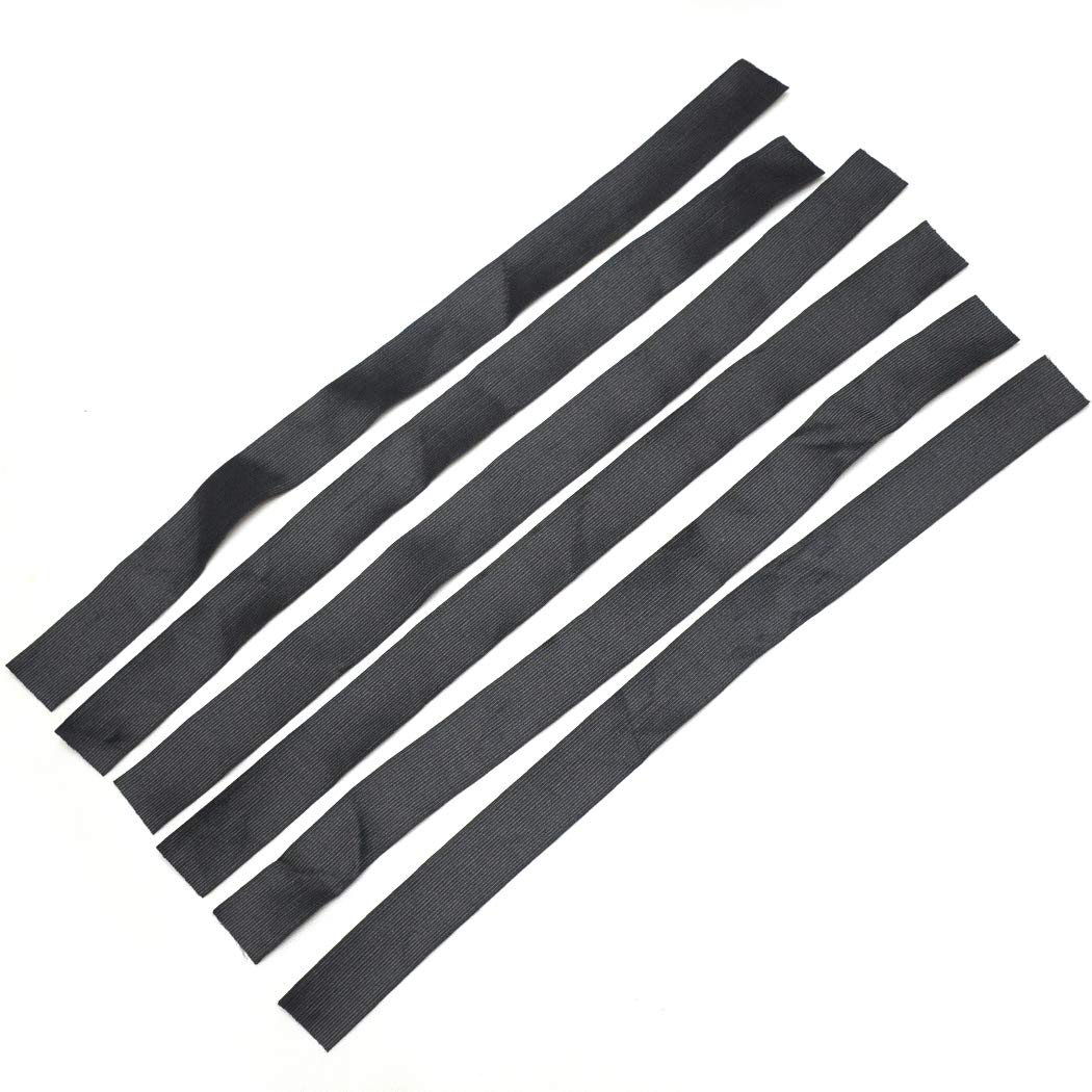 BLUPLE 1.5 inches width Black Elastic Band For Wigs//Lace Closures//Lace Frontal Sewing Band 6pcs