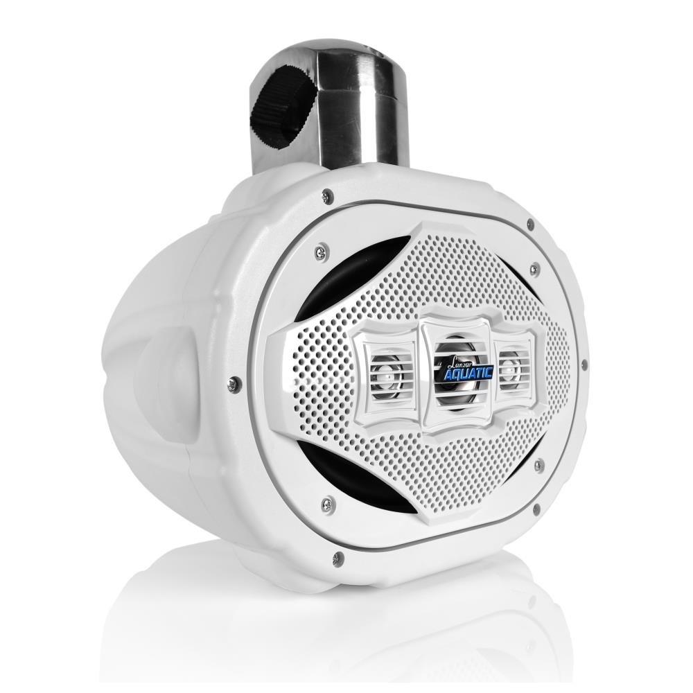 Lanzar AQAWBS69WT Aquatic Bluetooth 6' x 9' Wakeboard Tower Speaker, 1200W Lanzar AQAWBS69WT Aquatic Bluetooth 6 x 9 Wakeboard Tower Speaker Sound Around (Automotive)