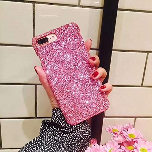 Price comparison product image iPhone 6 Plus,iPhone 6s Plus case,IKASEFU Flash Powder Back Shockproof Luxury Sleek Glitter Sparkly Bling Cute Shiny PC Thin Bumper Protective Cover for iPhone 6 Plus/6S Plus,pink