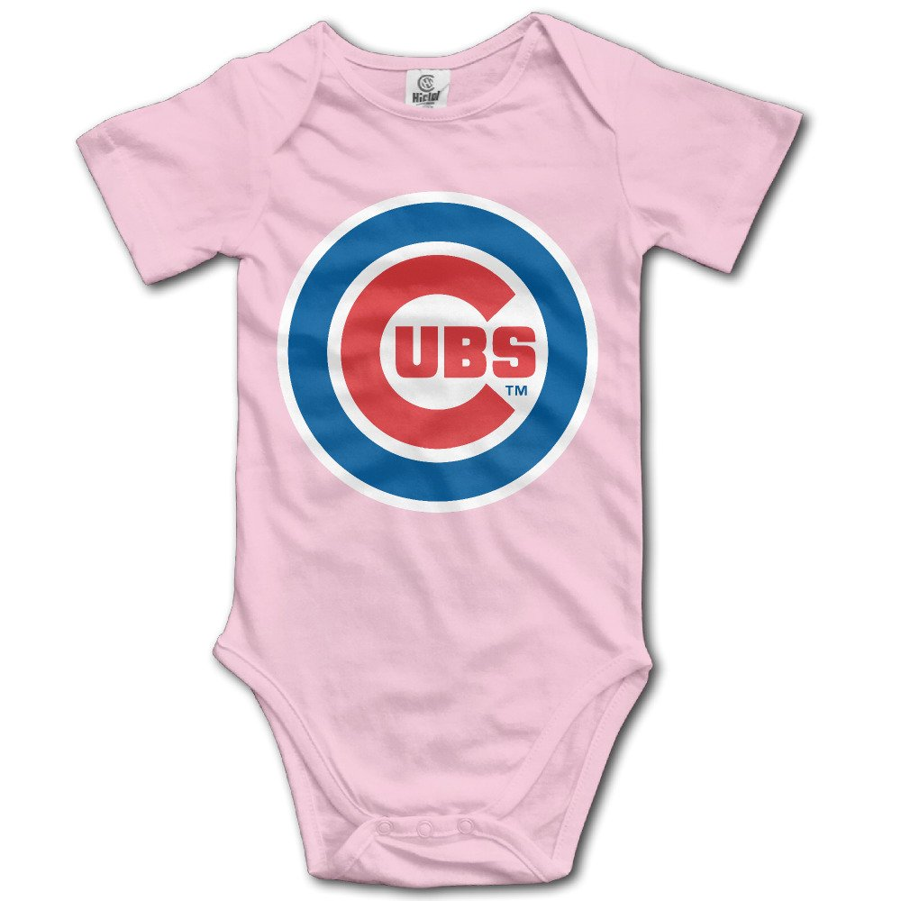Chicago Cubs Logo BABY Funny Short Sleeves Variety Baby Onesies Crawler For Little Baby