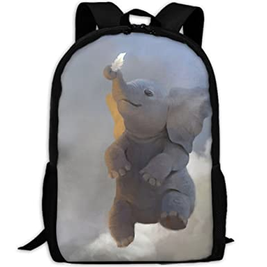 831419c15d Baby Elephant And Feather Outdoor Casual Shoulders Multipurpose Backpack  Fantasy Shoulder Bag School Backpack Travel Bags