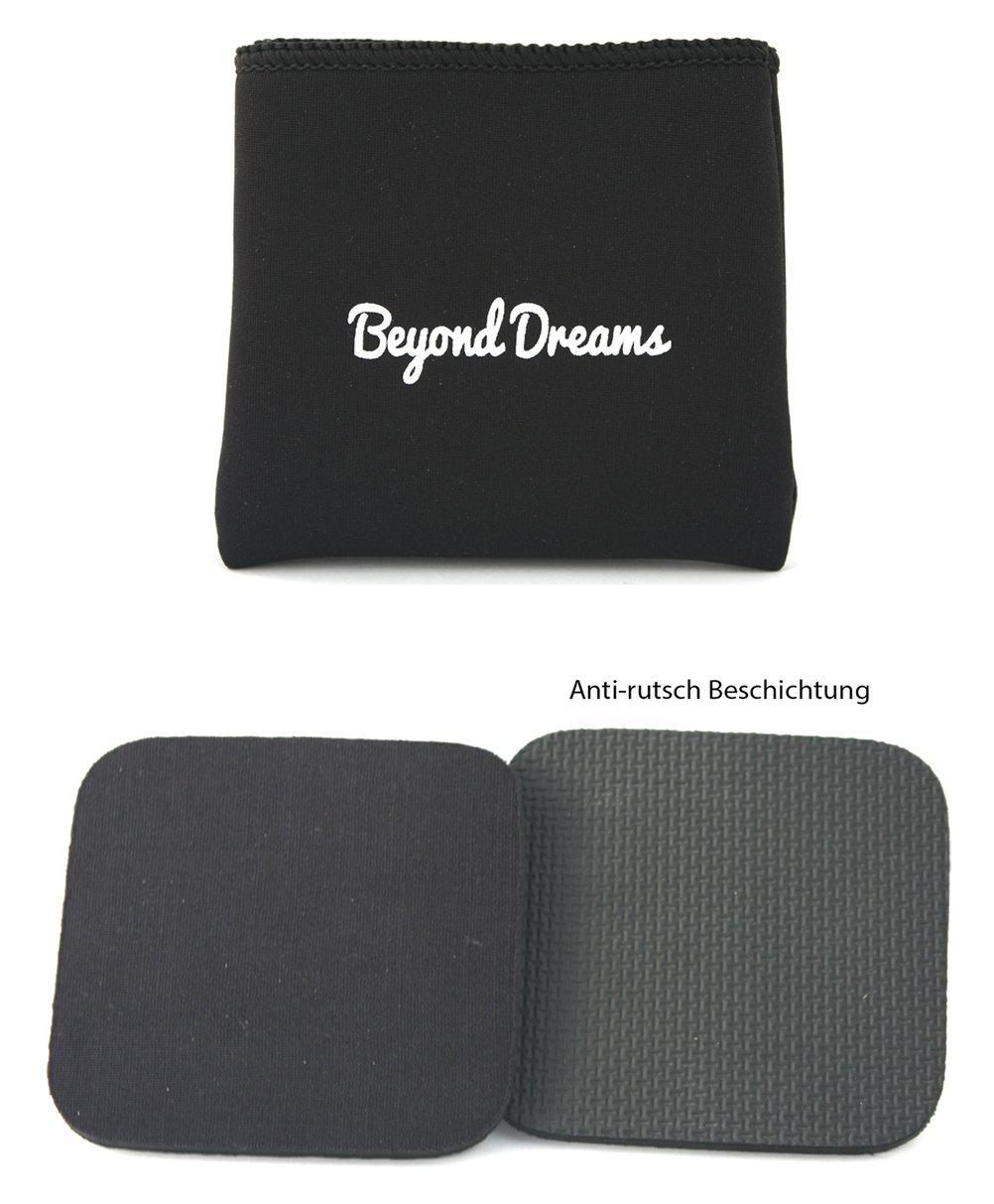 Protector acolchado de manos para fitness   alternativa a Guantes   Pads para entrenamiento de gimnasio y crossfit, protecció n contra callos y burbujas   Beyond Dreams, negro