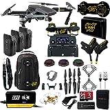 DJI Mavic PRO MaXX Mod Long Range Kit w/Thor Charger, Carbon Fiber Blades, Backpack, 3 Batteries, Lens Filters & More