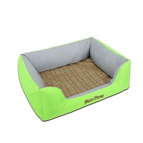 DSAQAO Cama Cajón del Perro para el Verano, Prueba del Rasguño Resistente al Agua Lavable desprendible Cama para Mascotas reforzar Nido para Mascotas Cama ...